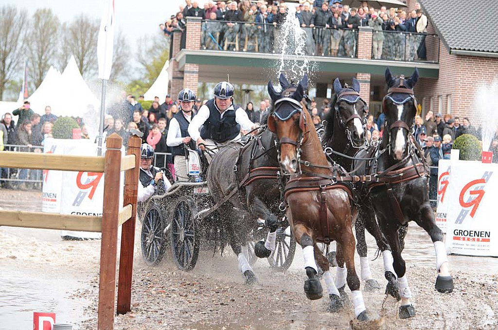 / The Nations Cup for Four-in-hand horses will take place this year in Valkenswaard 23rd – 27th May. National teams will compete against each other during Driving Valkenswaard International (DVI) on the grounds of Exell Equestrian in Valkenswaard.