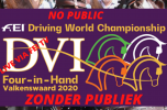 FEI Driving World Championship Four-in-Hand Valkenswaard 2020- LIVE LINK